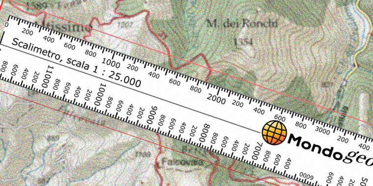 Scalimetro per scale 1:25000 e 1:50000