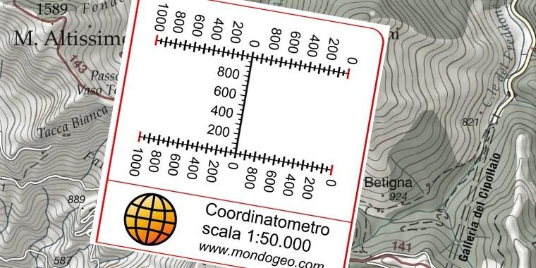 Coordinatometro scala 1:50000