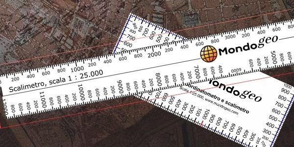 Coordinatometro ad H per scala 1:75000