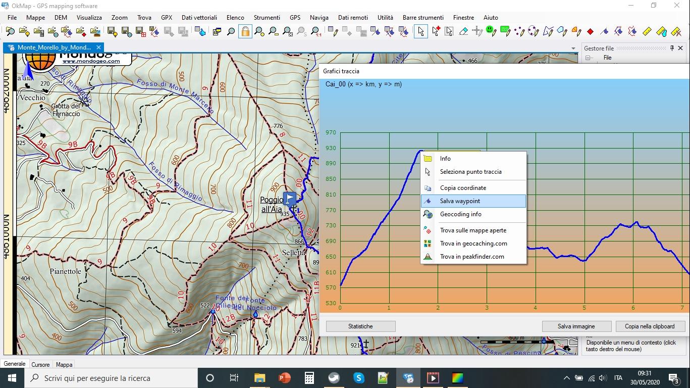 crea waypoint con okmap sul grafico