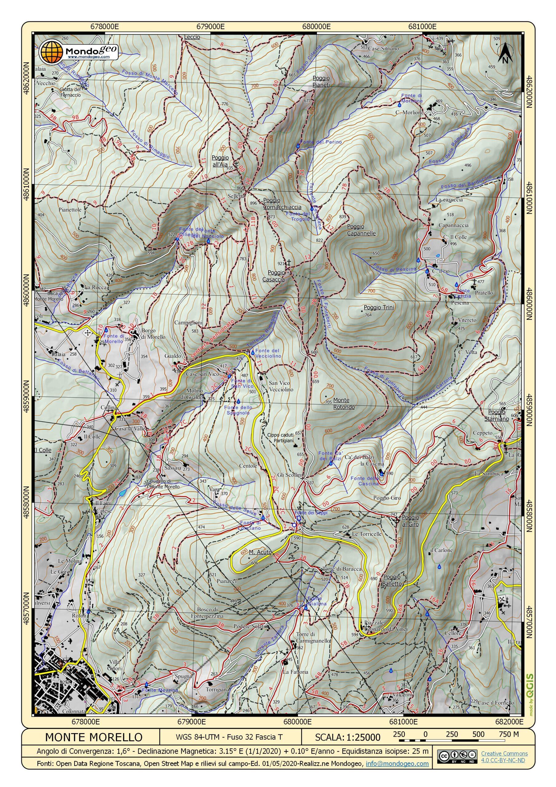 Mappa di Monte Morello A4 V06 by Mondogeo